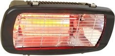 La Hacienda Royal Electric Heater 246277 - £99.99 Warm up your evenings quickly with this 1300w infrared electric heater. This model can be wall or tripod mounted for extra flexibility. Material: Steel and Aluminium Features: Infrared heaters heat surrounding objects not the air.