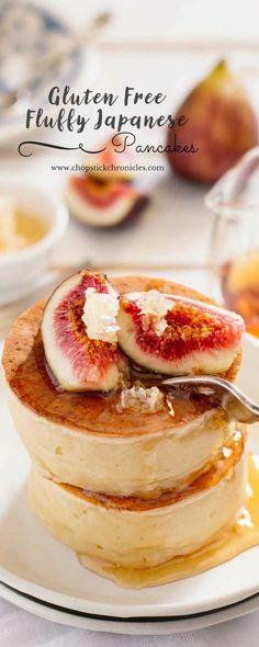 Gluten-Free Fluffy Japanese Pancakes. #GF #breakfast
