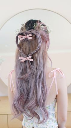 Hairstyles Haircuts, Straight Hairstyles, Fairy Hairstyles, Cut My Hair, Hair Cuts, Japanese Hair Color, Hair Inspo, Hair Inspiration, Romantic Hairstyles