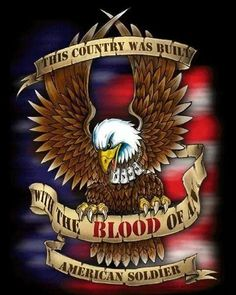 This country was built with the blood of an American soldier! I Love America, God Bless America, American Pride, American Flag, American History, American Symbols, Native American, Patriotic Pictures, Patriotic Quotes