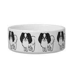 Shop Cartoon Japanese Chin / Phalene Bowl created by CartoonizeMyPet. Dog Lover Gifts, Dog Lovers, Cat Water Bowl, Japanese Chin, Japanese Cartoon, Food Bowl, Pet Bowls, Cat Food, Ceramic Bowls