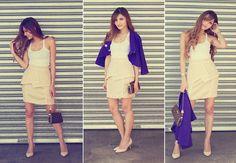 Myer Miss Shop Blazer, Jay Jays Singlet, Elliatt Framed Skirt, Louis Vuitton Eva Clutch, Tony Bianco Raffa Pumps