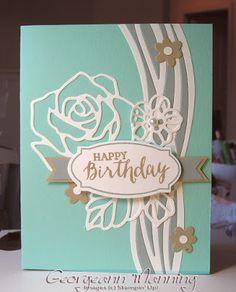 Swirly Scribbles, Rose Wonder, Rose Garden, Birthday Cards, Handmade, Stampin' Up, Stampin' Royalty