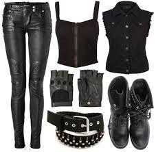 Resultado de imagen para rock outfit tumblr