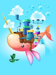 Behance :: Rain/Whale Island by Juan Casini