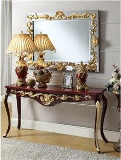 Catch your soul and motivation in this distinguished mirror! Take a look at the board and let you inspiring! See more clicking on the image. French Furniture, Classic Furniture, Luxury Furniture, Furniture Design, Mirror Decor Living Room, Entryway Decor, Consoles, Entrance Hall Tables, Glamour Living Room