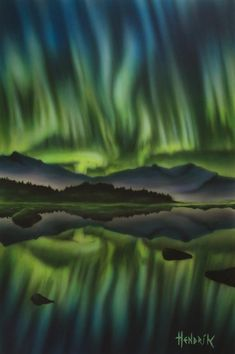 Original Nature Painting by Paolo Hendrik Original Paintings, Original Art, Air Brush Painting, Photorealism, Nature Paintings, Aurora Borealis, Airbrush, Buy Art, Paper Art