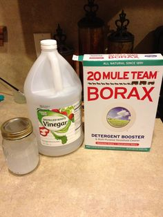 "My recipe for getting your carpets clean. 1 cup of distilled white vinegar, 2 gallons hot water, and 1/2 to 1 cup of Borax, diluted.  This got our carpets SO clean and fresh!  Never hiring a company to do it again!  I even had red marker on my carpet that the ""other guys"" said would never come out; this got it out!  I save some in a mason jar for emergency spot cleaning."