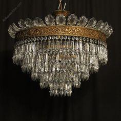 Antiques Atlas - French Gilded Bronze 6 Light Antique Plaffonier