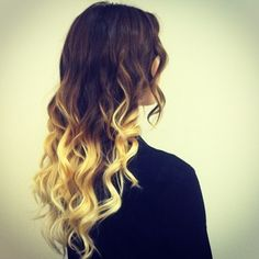 ombre hair @Hope Key...think we can do something more drastic like this? With maybe a few colored pieces on the blonde tips?