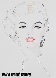 Marilyn Monroe giclee Signed Limited Edition by AlexFrancoArt