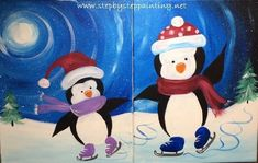 Learn how to paint a snowman starry night with this FREE acrylic canvas painting tutorial! Tracie's painting tutorials are great for beginners & even kids! Canvas Painting Tutorials, Easy Canvas Painting, Winter Painting, Acrylic Canvas, Painting For Kids, Canvas Paintings, Panda Painting, Canvas Art, Kids Canvas