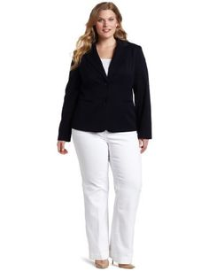 Anne Klein Women's Plus-Size Classic Blazer Anne Klein. $109.00. Made in Vietnam. Classic blazer. 73% Polyester/25% Rayon/2% Spandex. Dry Clean Only. Jetted front pockets