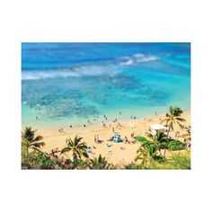 ArtStar Hawaiian Beach 15 x18 By ($275) ❤ liked on Polyvore featuring home, home decor, wall art, posters, white home decor, signed poster, beach scene wall art, beach home accessories and beach home decor