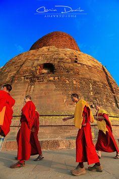 Varanasi & Sarnath - India   Cosmin Danila Photography - I See Beautiful People The 5th century AD Dhamekh Stupa is 34 m high: