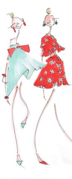 Jenny Walton fashion illustrations that could be used for children's book
