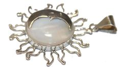 Sun Eclipse with Mother of Pearl Pendant .925 Sterling