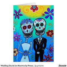 Wedding Dia de los Muertos by Prisarts Card