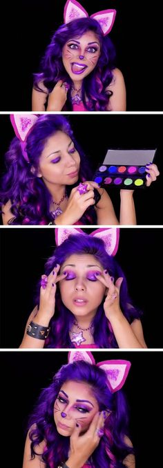 Cheshire Cat Inspired Makeup | 15+ Easy Halloween Costumes for Teens Girls