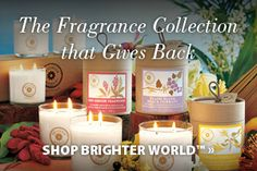 Brighter World by PartyLite - rare fragrance ingredients from exotic places in soy blend candles. Order @ www. Taper Candles, Scented Candles, Pillar Candles, Candle Jars, Candle Holders, Bougie Partylite, Grilling Gifts, Decoration, Tea Lights