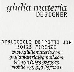 Giulia Materia - Designer