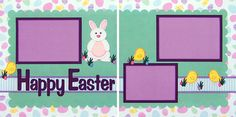 Easter Bunny Premade Scrapbook Page Set by A Scrap of Time