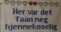 Geriljabroderi - her var det faan meg hjemmekoselig Funny Embroidery, Cross Stitch Embroidery, Cross Stitch Patterns, Sewing Projects, Craft Projects, Funny Games, Diy And Crafts, Knit Crochet, Geek Stuff