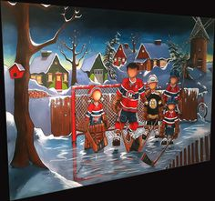 Hockey, Whimsical, Creations, Guy, Craft Ideas, Gardening, Paintings, Canvas, Sports