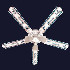 Miami Dolphins 5 Blade Ceiling Fan