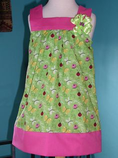 Size 4 Little Girls Adorable Spring Green by SewTouchingDesigns