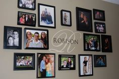 Robison Family Ramblings: Family Picture Wall