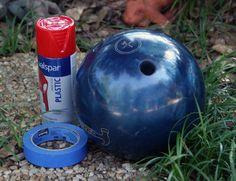 Lady bug bowling ball project