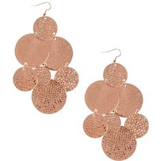 Nly Accessories Lake Earrings (120 DKK) ❤ liked on Polyvore featuring jewelry, earrings, nickel free jewelry, nickel free earrings and disc earrings