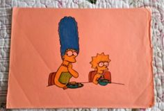 The Simpsons cartoon drawing