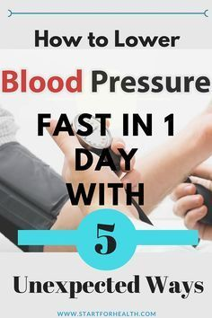 How to lower blood pressure fast? Try those unexpected ways to reduce the level of the blood pressure in faster time without getting some side effects just like medications.