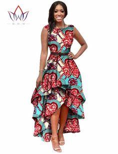 Long Dessses Women Fashion Dress Maxi Brand African Bazin Dresses for Women Dashiki Ankara Dresses Custom Cascading RuffleWY447-Dress-SheSimplyShops