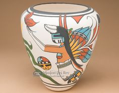 Navajo Sand Painted Pottery This Incredible Piece Comes