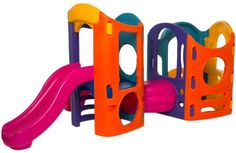 Little Tikes Adjustable Playground (Colors May Vary) This sturdy plastic playground set can be set up 8 different ways without any hardware. Little Tikes Playground, Plastic Playground, Playground Set, Swinging Doors, Gift Store, Play Houses, Hardware, Toys, Colors