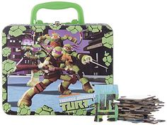Teenage Mutant Ninja Turtles 48 Pieces Puzzle Tin / Lunch Tin, 2015 Amazon Top Rated Jigsaw Puzzles #Toy