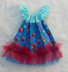 Little Mermaid Basic Flutter Dress SIZE 2, disney dresses, princess dresses, baby girl dresses,girls dresses,flutter dresses,handmade dress by HopskotchKids2 on Etsy
