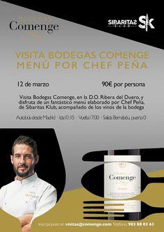 Ven a visitar nuestra bodega y disfruta de un fantástico menú elaborado por el Chef Peña, de Sibaritas Klub, acompañado por nuestros #vinos, DO Ribera del Duero. #gastronomía #vino #bodegas #Madrid