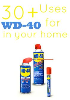 30+ Uses for WD-40 in your home - everything from removing scuff marks to getting legos apart!