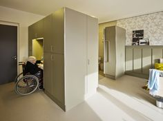 Atelier PRO architekten - Project - Interior nursing home Willibrord - Clothing Store Interior, Hospital Design, Elderly Home, Secret Rooms, Healthcare Design, Inside Design, Assisted Living, House Windows, Senior Living
