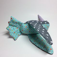 Hummingbird out of cotton  grey with stars and dots by RBQuery