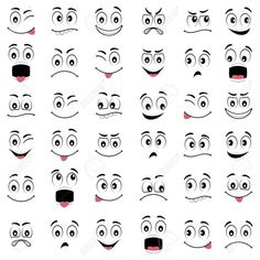 Find Cartoon faces with different expressions, featuring the eyes and mouth, design elements on white background Stock Images in HD and millions of other royalty-free stock photos, illustrations, and vectors in the Shutterstock collection. Clay Pot Crafts, Rock Crafts, Eye Painting, Stone Painting, Cartoon Faces Expressions, Cartoon Eyes, Cartoon Drawings, Snowman Faces, Different Emotions