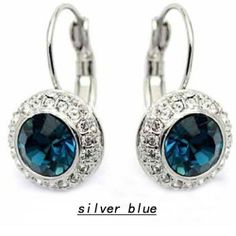 Fashion Small Drum Crystal Clip Earrings Kate Middleton Same Style