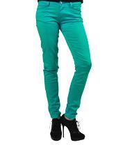 Bleeding Heart Satin Super Skinny Fit Jeans (Green)