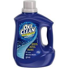 OxiClean HD Sparkling Fresh Scent Liquid Laundry Detergent, 100.5 fl oz, Blue