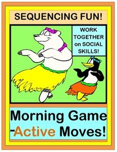 "Play an ACTIVE FRIENDSHIP GAME to start your day!  Follow SEQUENTIAL DIRECTED MOVEMENTS together!  Five ""WORDS FOR MOVING"" POSTERS are included.  SONG DIRECTIONS provided-- no music abilities needed.  Work on SOCIAL SKILLS with active fun!  (11 pages)  From Joyful Noises Express TpT!  $"