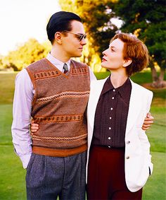 Leo and Cate as Howard Hughes and Katharine Hepburn in The Aviator.